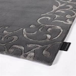 tapis en laine angelo sydney gris fonce 170x240 With tapis laine gris