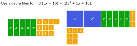 Algebra Tiles Worksheets Multiplying Polynomials by Ixl Add And Subtract Polynomials Using Algebra Tiles