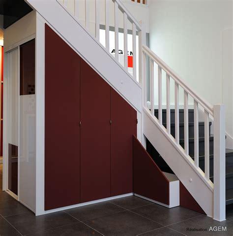 rangements sous pentes  escaliers placard  dressing