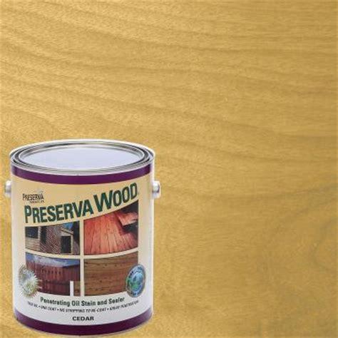 preserva wood  gal oil based cedar penetrating stain