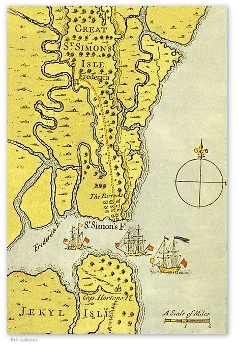 St. Simons Island Map