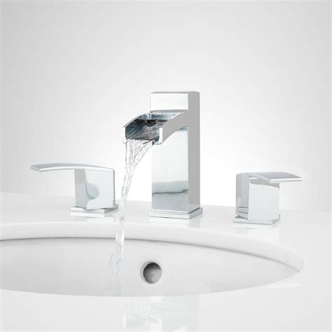 Sink Faucets And More by Morata Widespread Waterfall Bathroom Faucet Bathroom