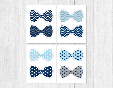 Bow Tie Baby Shower Ideas - bow tie baby shower cutouts decorations printable ebay