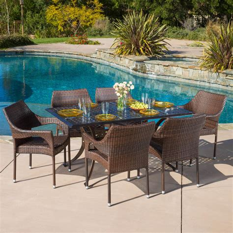 noble house furniture noble house cliff bronze and mixed brown 7 aluminum 1111