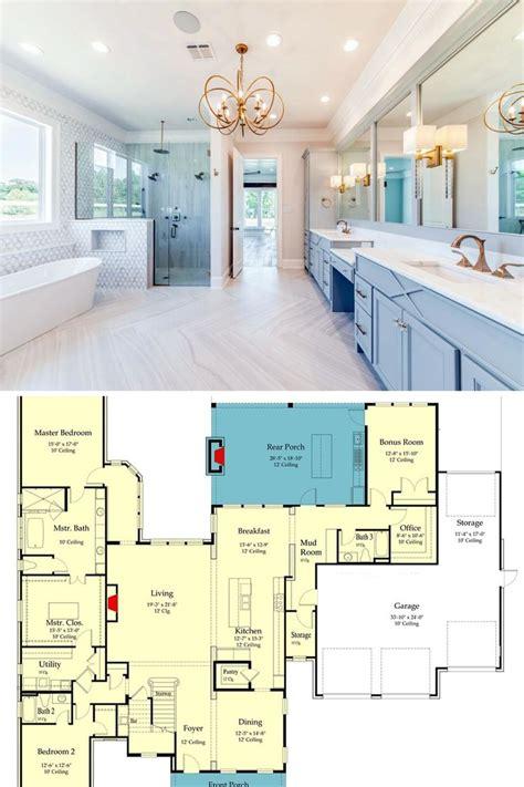 story  bedroom southern home  rustic interior elements floor plan luxury floor