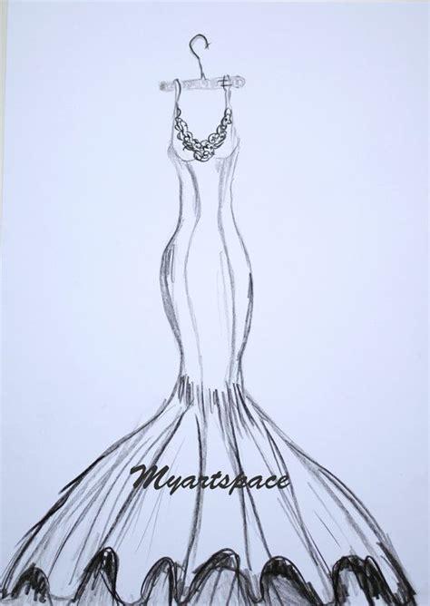 wedding dress drawing custom siren wedding dress