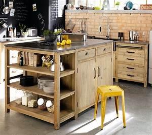 9 idees d39amenagement d39ilot dans la cuisine blogue With idee deco cuisine avec fabrication de table en bois