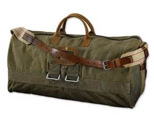 Temple WWII Vintage Duffle Bag