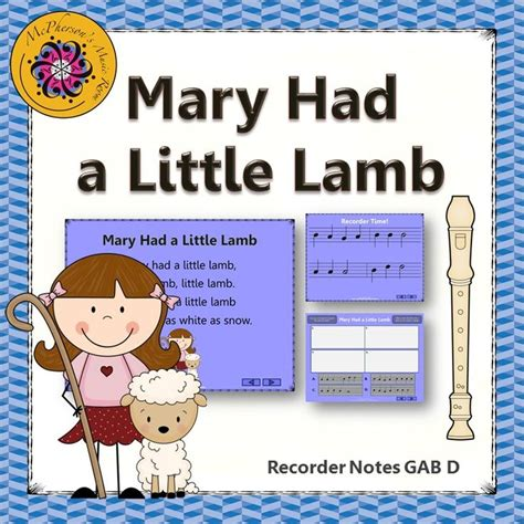 And everywhere that mary went, mary went, mary went, and everywhere that mary went, the lamb was sure to go. Mary Had a Little Lamb - Soprano Recorder Visuals (Notes GAB D)   Student, The o'jays and Products