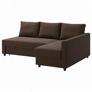 Friheten corner sofa bed with storage skiftebo brown ikea for Ikea corner sofa bed