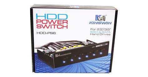 kingwin hdd ps hard drive power switch review