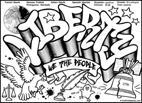 Hip Hop Graffiti Kleurplaat by Free Graffiti Coloring Page Liberty Graffiti Free Coloring