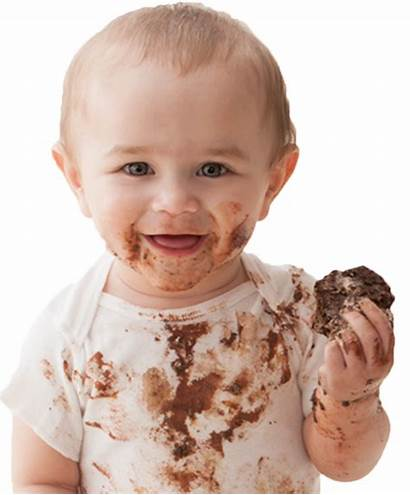 Eating Chocolate Cake Face Babies Sweet Desicomments