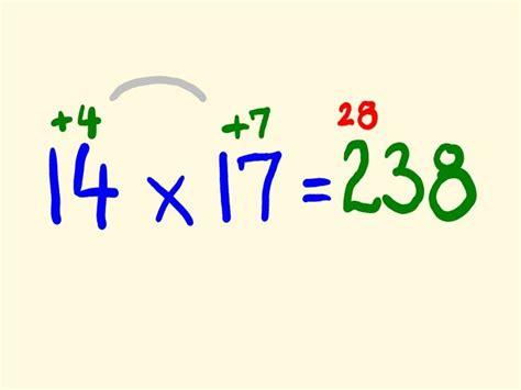 fast mental multiplication trick multiply   head