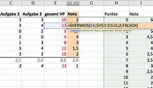 Excel Tabelle Berechnen Lassen : excel note der klassenarbeit automatisch ermitteln mit sverweis lehrerfreund ~ Themetempest.com Abrechnung