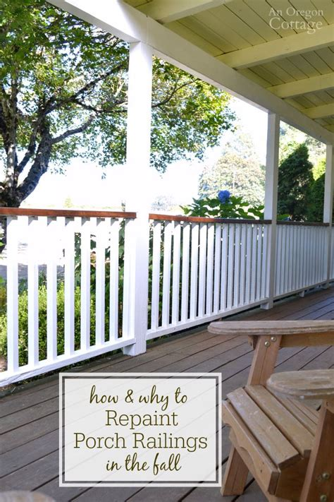 how and why to repaint porch railings in the fall an