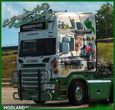 countrywide skin rjl scania mod for ets 2