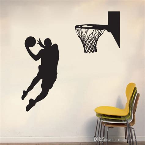 shoot at the basket wall mural decor home decoration