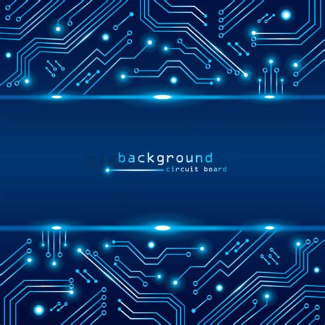 Technical Circuit Board Background Vector Image