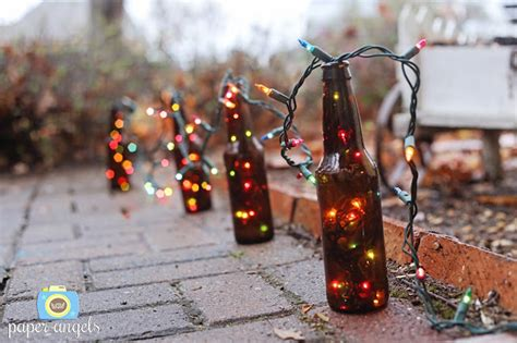 homemade sparkle  awesome diy garden light ideas