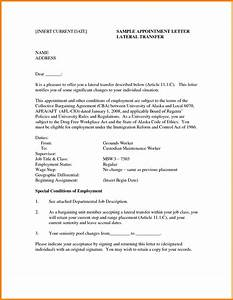 6 employee transfer letter format mail clerked With internal transfer letter template
