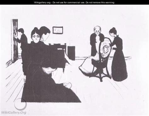 chambre mortuaire la chambre mortuaire 1896 edvard munch wikigallery org