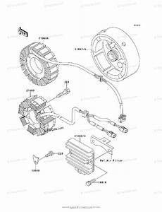 Kawasaki Atv 1995 Oem Parts Diagram For Generator
