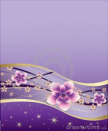 purple background  pink  gold flowers royalty