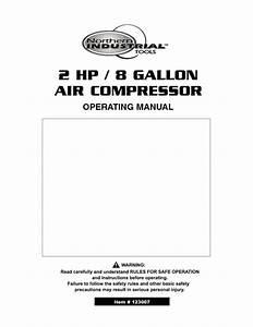 2 Hp    8 Gallon Air Compressor Manuals