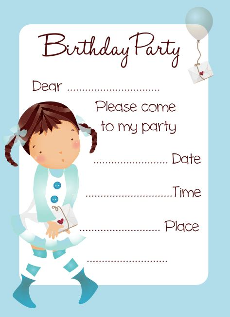 Free Printable Birthday Invitations for Girls Categories