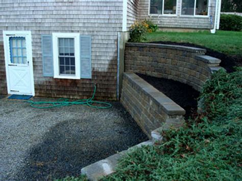 Design Of Basement Retaining Wall by Segmental Retaining Walls Mike Stacy Landscaping