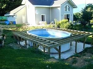 Preparation Terrain Pour Piscine Hors Sol Tubulaire : terrasse piscine hors sol ~ Melissatoandfro.com Idées de Décoration