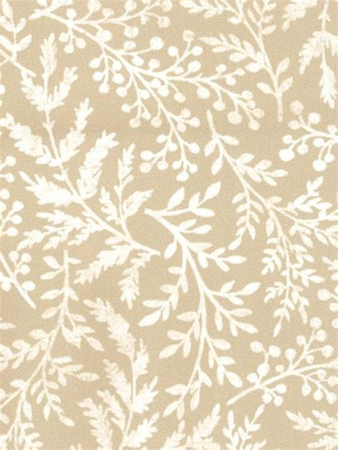 fern pattern neutral fabric  curtains rustic garden
