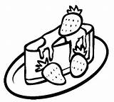 Cheesecake Coloring Strawberry Pages Drawing Cookie Cupcake Cheese Drawings Cakes Cookies Explore Coloringkidz Gingerbread Man Getdrawings sketch template