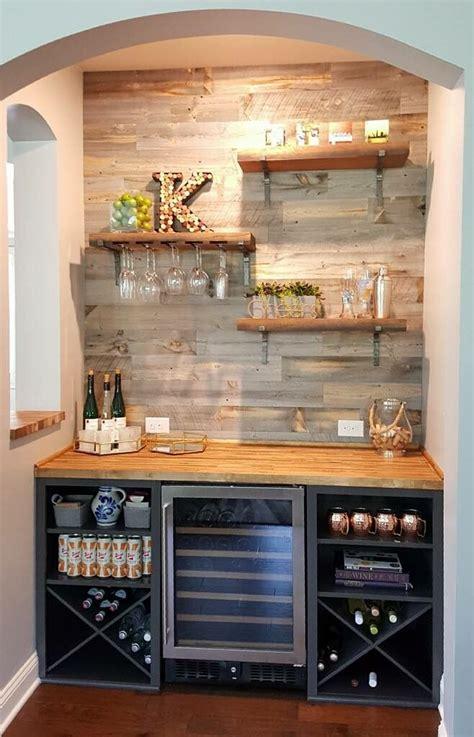 Basement Bar Fridge by Beverage Fridge Breakfast Nook In 2019 Home Bar