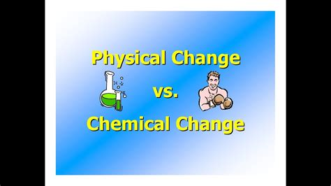 Chemical And Physical Changes Youtube