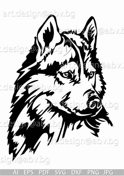 Husky Svg Dxf Dog Animal Pyrogravure Ai