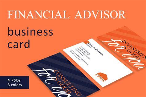 financial advisor business card business card templates