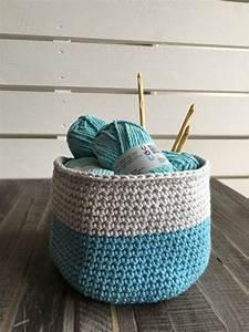 Corbeille Au Crochet : tuto corbeille en crochet crochet tissage pinterest corbeille tuto et crochet ~ Preciouscoupons.com Idées de Décoration