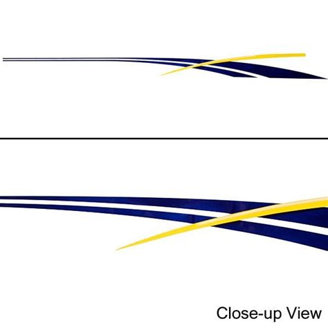 Pontoon Boat Stripe Decals by Custom 78 Inch White Yellow Navy Stripe Boat Decal