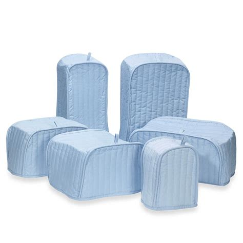 ritz quilted light blue appliance cover