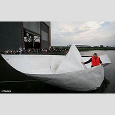 Artist Sets Sail In Lifesize Paper Boat  Daily Mail Online