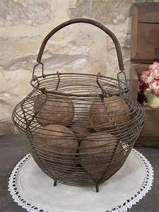 Panier A Oeuf : ancien panier ufs panier salade ~ Teatrodelosmanantiales.com Idées de Décoration