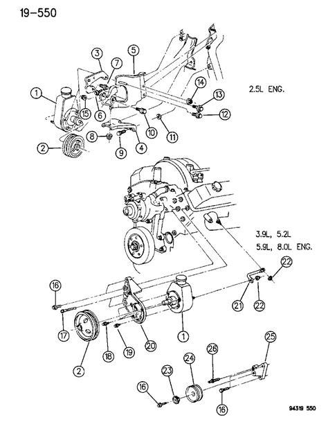 Dodge Ram Power Steering Diagram by Dodge Ram 2500 Bracket Front Mounting Power Steering