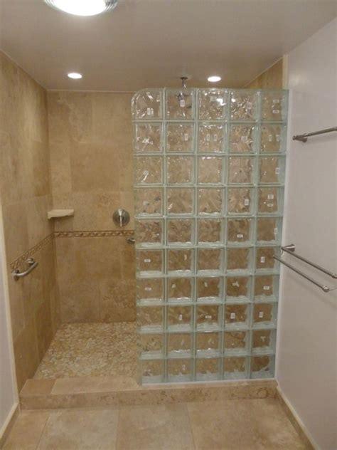 glass block walk  shower pictures  pin  pinterest