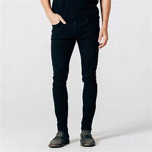 Mens Skinny Jeans In Stretch Jet Black $75 | DSTLD