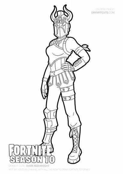Fortnite Coloring Knight Dark Draw Season Dibujos