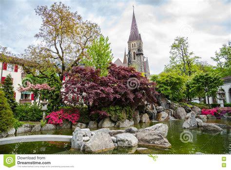 Japanischer Garten Interlaken by Japanese Garden Interlake Switzerland Stock Photo