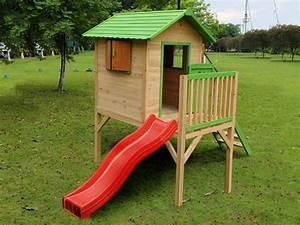 Cabane En Bois De Jardin : cabane de jardin en bois sur pilotis doudou 60008 ~ Dailycaller-alerts.com Idées de Décoration