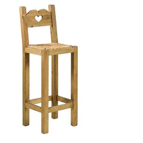 chaises de bar pas cher tabouret de bar en bois avec dossier cuisine en image